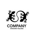 creative lizard connect logo vector image