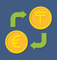 Currency exchange Euro and Tenge vector image vector image