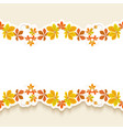 cutout paper frame with autumn leaves vector image vector image