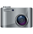 digital camera in gray color vector image