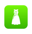 dress model icon green vector image