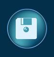 floppy diskette symbol store information document vector image