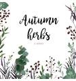 floral watercolor style card design eucalyptus vector image vector image