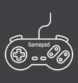Gamepad line icon console and joystick