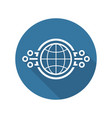 global networking icon vector image vector image