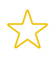 gold star in origami design vector image vector image