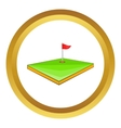 Golf course icon vector image vector image
