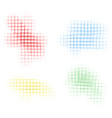grid background in four colors vector image vector image