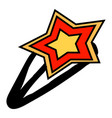 hairpin with star on white background vector image