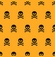 halloween seamless patterns cartoon skulls vector image