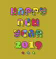 happy new year 2019 disco font vector image vector image