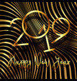 happy new year background with warped stripe vector image vector image