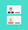 identification card personal info data identity vector image