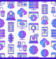 information technology seamless pattern vector image vector image
