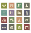 infrastructure icon set vector image vector image