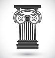 ionic column vector image vector image