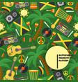 jamaica rastafarian seamless pattern vector image