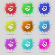 Laptop icon sign A set of nine original needle vector image vector image