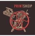 Letterpress overprint design Vintage print vector image vector image