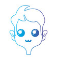 line tender man with hairstyle design vector image