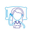 line woman with hairstyle design sleeping vector image
