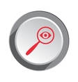 Magnifier glass lens and eye icon Zoom tool vector image