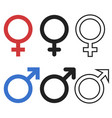 male and female symbols vector image vector image