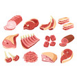 meat products butcher shop or market isolated vector image vector image