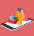 mobile app for online shopping isometric vector image