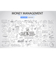 Money Management concept with Doodle design style vector image vector image