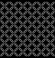 monochrome ornament seamless pattern vector image vector image