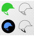 motorcycle helmet eps icon with contour vector image vector image