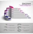 multicolored diagram template vector image vector image