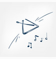 musical triangle sketch line design music vector image vector image