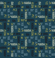 new york pattern seamless design vector image