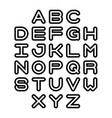 outline font and alphabet vector image
