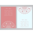 Pink and white flyers with ornate flower pattern vector image vector image