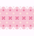 pink pastel flower seamless pattern vector image