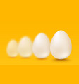 realistic white eggs vector image vector image