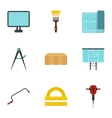 Repair icons set flat style vector image vector image