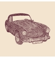 Retro car sketch vector image