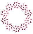 Round decorative frame of stylized Danish flag vector image vector image