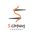 s clothing logo design template vector image vector image
