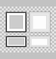 set realistic square black and white frames vector image
