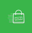 shopping bag with the sale discount symbol vector image vector image