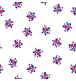 stars on white pattern background multicolored vector image