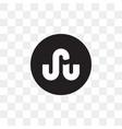 stumbleupon social media icon design template vector image vector image