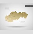 stylized slovakia map vector image vector image