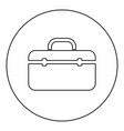 tool box professional icon black color in round vector image vector image