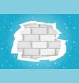 torn blue wallpapers brick wall vector image vector image